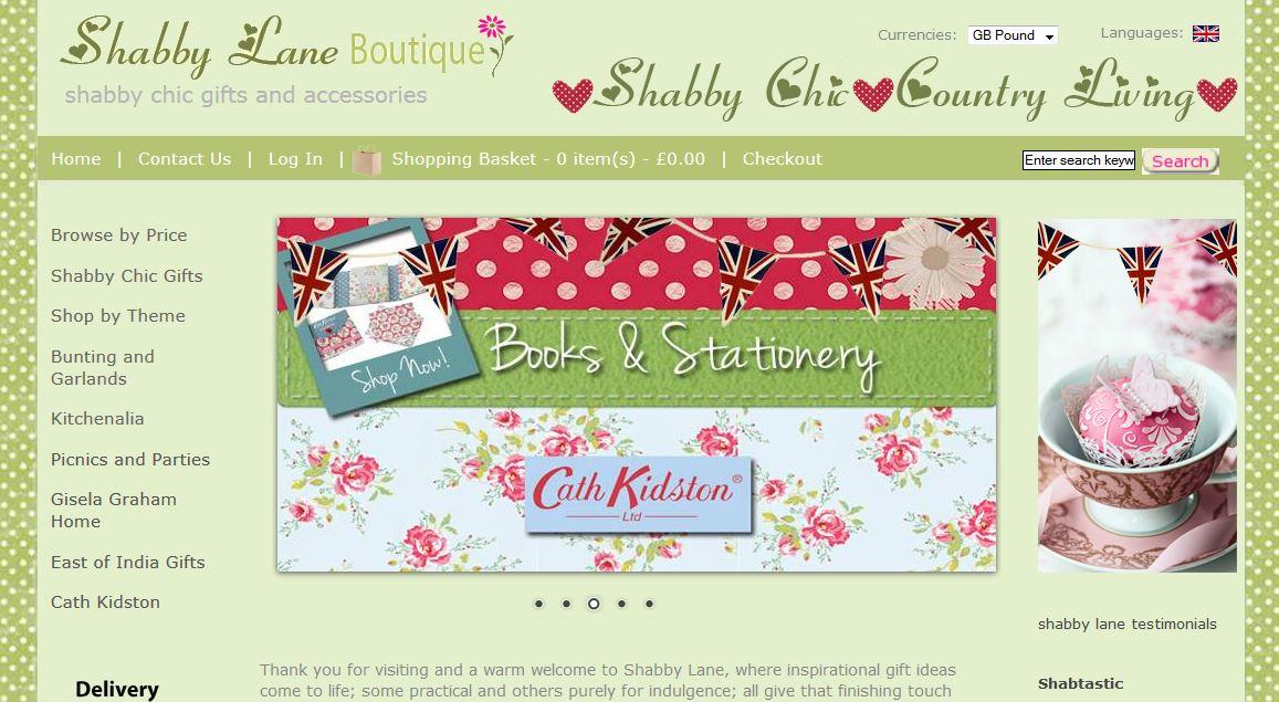 shabby chic ecommerce website barnstaple - Enterprise Web Design