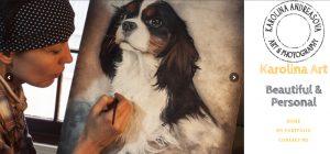 portrait artist website design South Molton