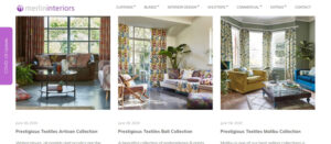Curtains drapery eCommerce website Barnstaple