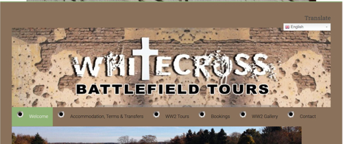Military tour guide website based in North Devon