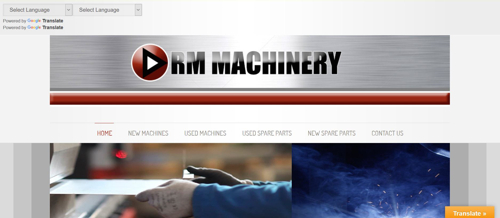 Website for machinery supplier Combe Martin North Devon
