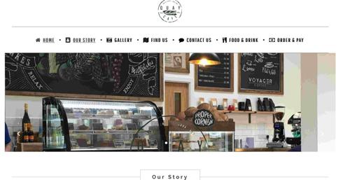 Cafe bar website Braunton