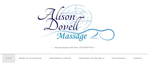 Massage therapist website Barnstaple