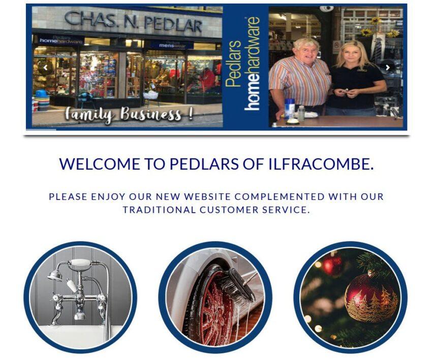 pedlars homehardware ilfracombe ecommerce website design devon