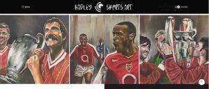 Sports art Ecommerce WordPress website